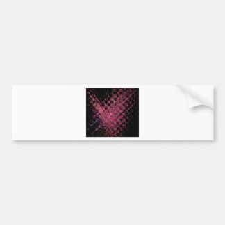 Fractal with abstract heart bumper sticker