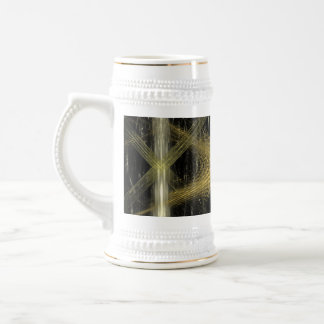 Fractal with brown and black colors. beer stein
