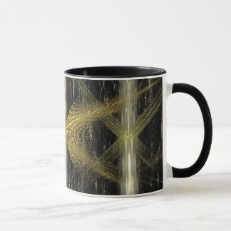 Fractal with brown and black colors. mug