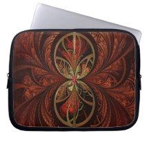 Fractal Wood Laptop Sleeves