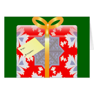 Fractal Wrapping Paper Christmas Card