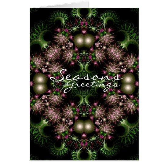fractal wreath Card