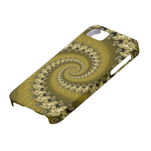 Fractal Yellow Double Spiral Case Mate iPhone 5 Cases