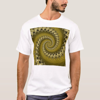 Fractal Yellow Double Spiral Shirt