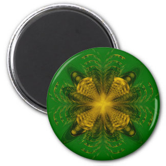 Fractal Yellow Pattern Magnet