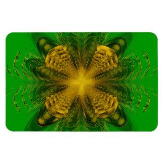 Fractal Yellow Pattern Premium Magnet