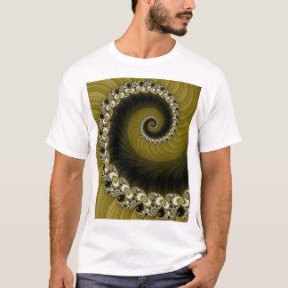 Fractal Yellow Spiral Shirt