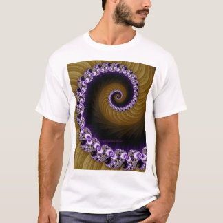 Fractal Yellow/Violet Spiral Shirt