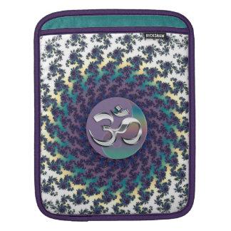 Fractal Yin-Yang OM Mandala iPad Sleeve