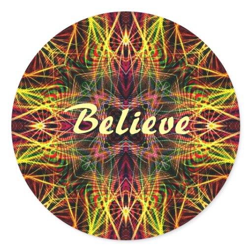 FractalArts : Believe Classic Round Sticker