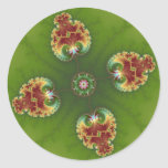 Fractalbug Picnic - Fractal Art Classic Round Sticker