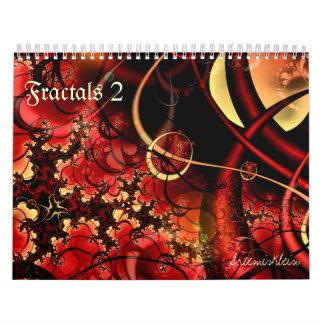 Fractales 2, calendario de 12 meses