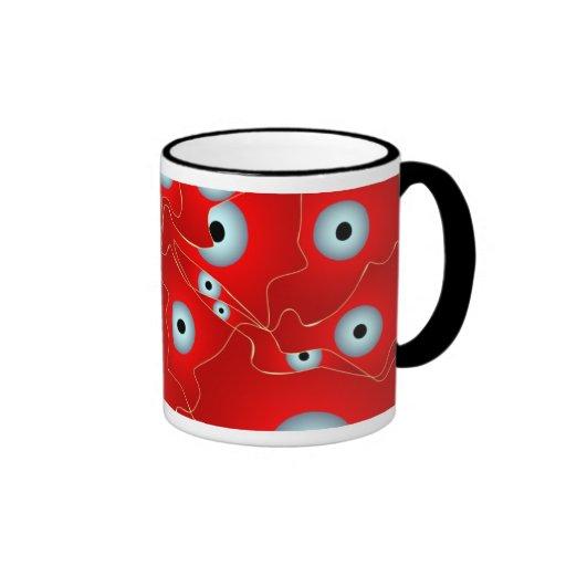 Fractales abstractos taza de café