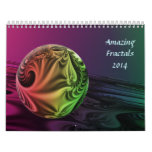 Fractales asombrosos calendarios de pared