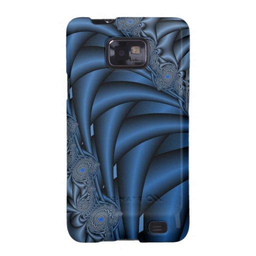 Fractales azules samsung galaxy SII carcasas