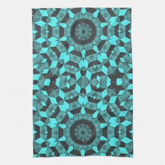 Fractales azules toalla