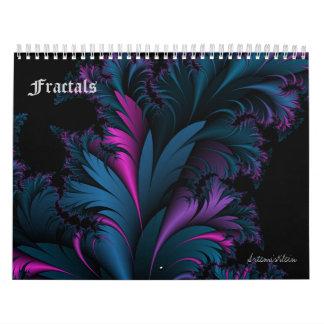 Fractales calendario de 12 meses