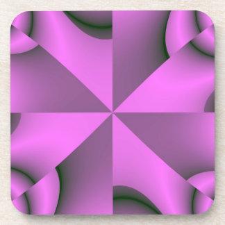 Fractales de color de malva posavaso