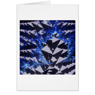 Fractales encapuchados tarjeta de felicitación