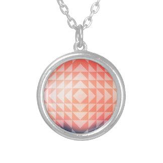 Fractales geométricos de los triángulos del arte collar plateado