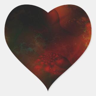 FRACTALES SCIE de abstract_fractals_3-1600x1200 Pegatina En Forma De Corazón