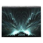 Fractales simétricos 2014 calendario de pared