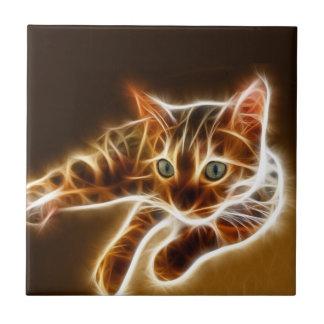 Fractalius Bengal Cat Ceramic Tile