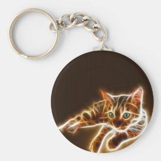 Fractalius Bengal Cat Keychains
