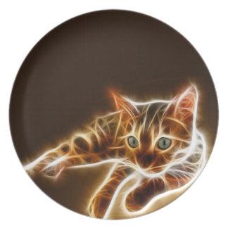 Fractalius Bengal Cat Plate