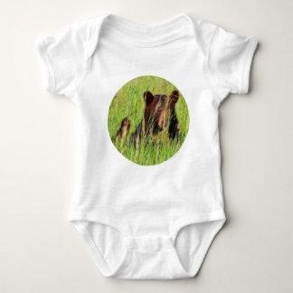 Fractalius Black Bear Baby Bodysuit