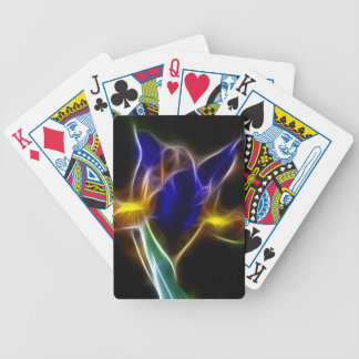 fractalius Blue Lily Bicycle Playing Cards