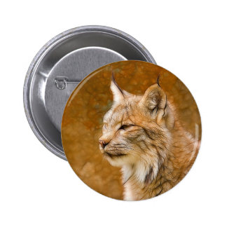 Fractalius Canadian Lynx 2 Inch Round Button