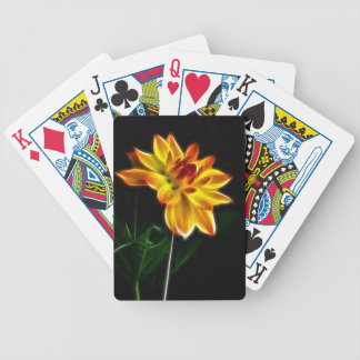 Fractalius Dahlia Bicycle Playing Cards