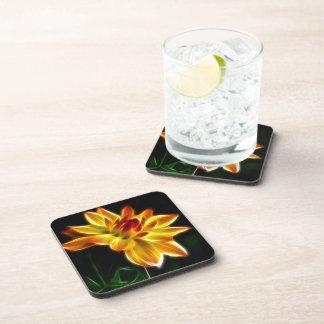 Fractalius Dahlia Beverage Coasters