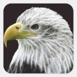 Fractalius Eagle Pegatina Cuadrada