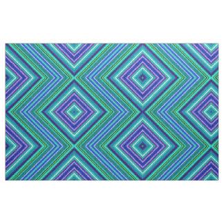 Fractalius Fabric Zig-Zag Mirrored (Blue)