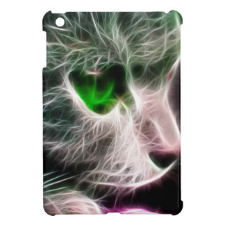 Fractalius Green Eyed Cat Cover For The iPad Mini