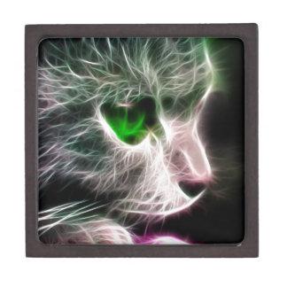 Fractalius Green Eyed Cat Gift Box