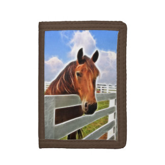 Fractalius horse trifold wallet