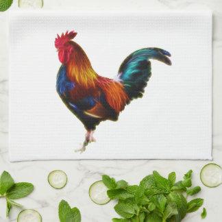 Fractalius Leghorn Rooster Kitchen Towel