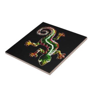 Fractalius Lizard Ceramic Tile
