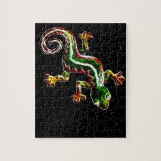Fractalius Lizard Jigsaw Puzzle