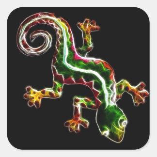 Fractalius Lizard Square Sticker