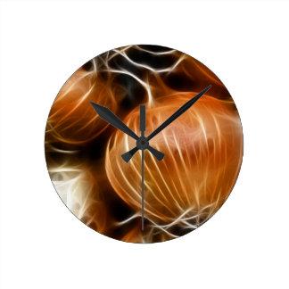 Fractalius Onion Round Clock