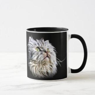 Fractalius Persian cat face Mug
