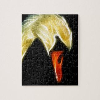 Fractalius Swan Jigsaw Puzzle