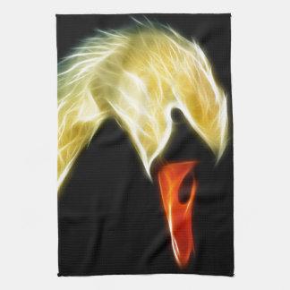 Fractalius Swan Kitchen Towel