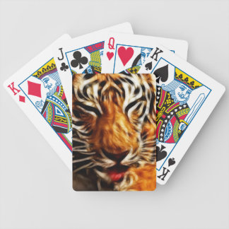 Fractalius Tiger Bicycle Playing Cards
