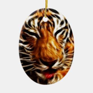 Fractalius Tiger Ceramic Ornament