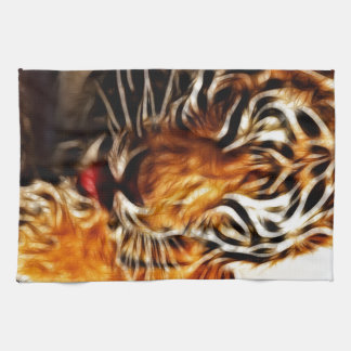 Fractalius Tiger Kitchen Towel